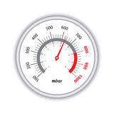 Manometer on white background Stock Photos