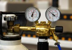 Gas pressure control Royalty Free Stock Images