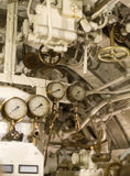 Manometers inside of submarine. Stock Photography