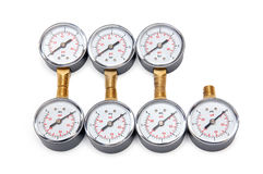 Manometers for pressure measurement Royalty Free Stock Photo
