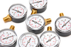 Manometers for pressure measurement Royalty Free Stock Photos