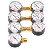 Manometers for pressure measurement Stock Photos