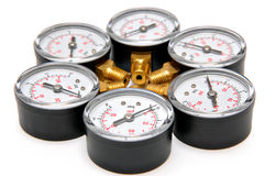 Manometers for pressure measurement Stock Photo