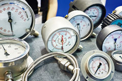 Manometers and thermometers in store Stock Images