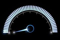 Manometertemperatur-Geschwindigkeitsleistung Lizenzfreie Stockfotografie