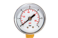 Manometre for pressure measurement on a white Stock Photo