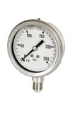 Manometre for pressure measurement. On a white royalty free stock image