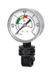Manometre for pressure measurement on a white background. A Manometre for pressure measurement stock image