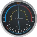 Manometro di temperatura/di olio Fotografie Stock Libere da Diritti