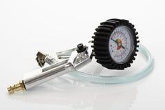 Manometro, manometro, scala di misure di pressione d'aria Fotografia Stock Libera da Diritti