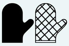 Manopla de protección contra el calor stock de ilustración