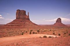 Manopla del este del valle del monumento y del oeste Fotos de archivo libres de regalías