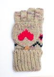 Manopla/guante en el fondo blanco Imagen de archivo
