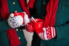 Manoplas de la Navidad Foto de archivo libre de regalías