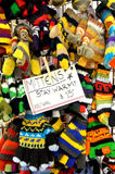 Manoplas de las lanas Fotografía de archivo libre de regalías