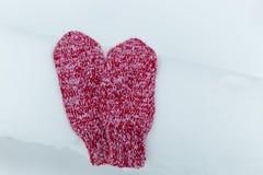 Manoplas en nieve Imagen de archivo