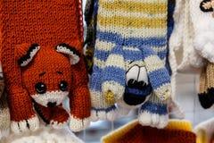 manoplas y guantes de las lanas Foto de archivo