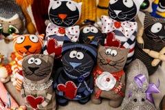 manoplas y guantes de las lanas Fotos de archivo libres de regalías