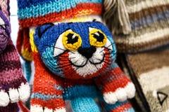 manoplas y guantes de las lanas Imágenes de archivo libres de regalías