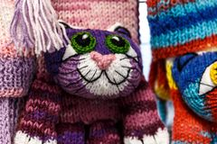 manoplas y guantes de las lanas Fotos de archivo