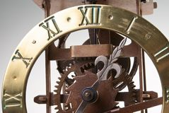 Manopola di orologio di sguardo antica Fotografia Stock Libera da Diritti