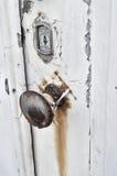 Manopola di porta arrugginita fotografia stock libera da diritti