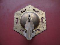 Manopola di porta cinese antica Fotografie Stock