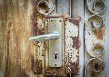 Manopola di porta di alluminio Fotografie Stock Libere da Diritti