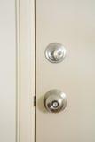 Manopola di porta e serratura di porta Immagine Stock