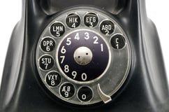 Manopola di telefono dell'annata con i numeri fotografia stock