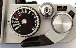 Manopola di velocità di otturatore immagini stock