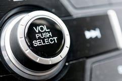 Manopola stereo del volume Fotografia Stock
