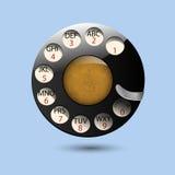 Manopole del disco di vecchio retro telefono Fotografia Stock Libera da Diritti