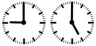Manopole di orologio Fotografie Stock
