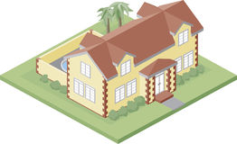 Manor. A small rich mansion illustration created in illustrator Royalty Free Stock Images