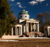 Manor Arkhangelskoe. Temple-tomb Colonnade . Spring in the park. Royalty Free Stock Photos