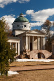 Manor Arkhangelskoe. Temple-tomb Colonnade . Spring in the park. Royalty Free Stock Photography