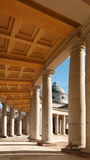 Manor Arkhangelskoe. Temple-tomb Colonnade . Spring in the park. Stock Photo