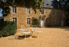 The Manor of Artaban in the picturesque Jardins du Manoir d Eyrignac in Dordogne royalty free stock photography