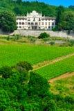 Manor in Chianti region no.1. Big manor with vineyard in the Chianti region in Italy stock photos