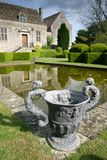 Manor garden. A garden in an English manor house Royalty Free Stock Image