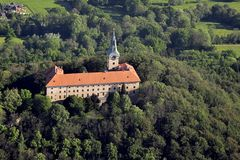 Manor hause Zelena Hora - air photo Stock Image