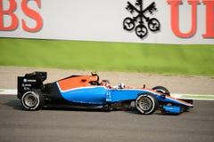 Manor het Rennen Formule 1 in Monza door Esteban Ocon wordt gedreven dat royalty-vrije stock afbeeldingen