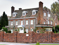 Manor House. Imposing Manor House in Rural England Stock Photography