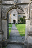 Manor House. Arched Entrance of Manor House Grounds Stock Images