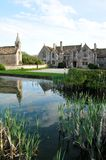 Manor House. And Grounds Surrounded by a Moat Stock Images