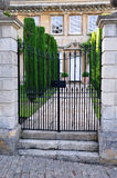 Manor House. Gate and Garden of a Manor House Royalty Free Stock Photography
