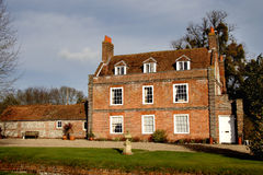 Manor House. A Grand Country Manor House in Rural England Stock Image