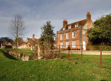 Manor House. A Grand Country Manor House in Rural England Royalty Free Stock Photo