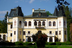 Manor-House Betliar. Housed in a former hunting palace of the Andrássy family (national monument), which is situated in a large romantic park in Betliari stock image